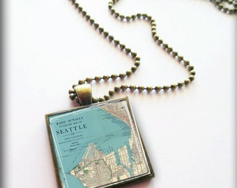 SEATTLE United States necklace + pendant square