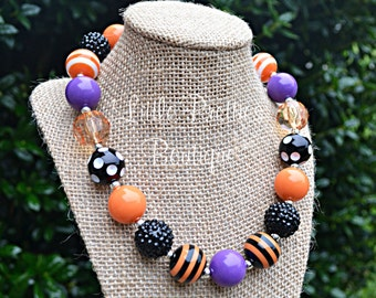 Halloween Bubblegum Necklace, Chunky Necklace, Kid's Necklace, Children's Necklace, Girl's Necklace, Chunky Bead Necklace, BN05