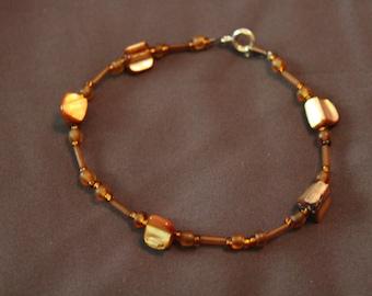 Brown shell Bead bracelet