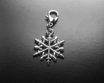 Snowflake Dangle Charm for Floating Lockets, Necklaces, or Bracelets-Gift Idea