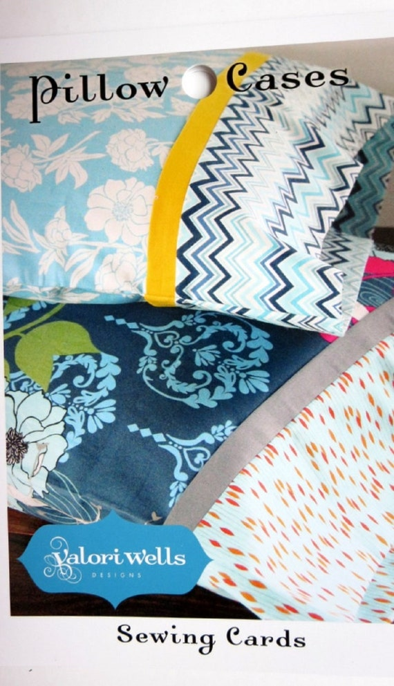 Pillow Cases Sewing Pattern Cards By Valori By