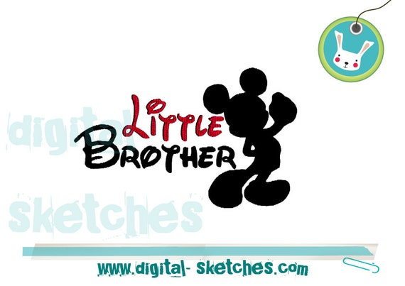 Little Brother Mickey Mouse Embroidery By Digitalsketches