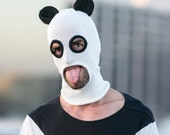 PANDA MASK for Men and Women - Panda Mask for Burning Man - Halloween - Designer Spencer Hansen for Blamo Toys - Cotton Knit Beanie