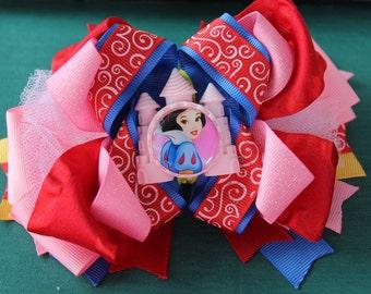 Snow white boutique bow