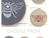 Bumblebee DIY embroidery, hand embroidery kit, modern embroidery pattern, I Heart Stitch Art, iheartstitchart, bee pattern, DIY hoop art kit