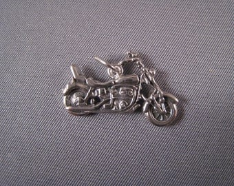 Motorcycle .925 Sterling Silver Charm