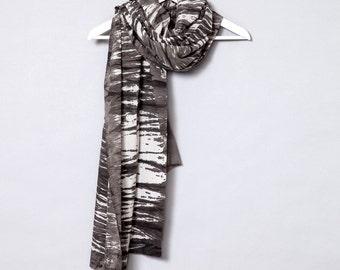 Shibori Scarf. Summer Scarves. Cotton Scarf. Unique Handmade Scarves. Fashion Scarves.