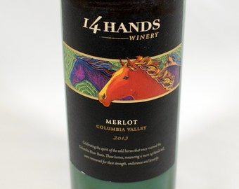 14 Hands Merlot Soy Candle - Handcrafted from Recycled Wine Bottle