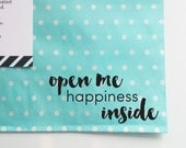 Open Me Stamp for Packaging and Shipping, Custom Etsy Shop Stamp, Shipping Stamp, Packaging Stamp, Stamp for Shop Owners