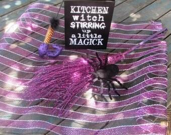 Halloween Centerpiece Halloween Decor Witch Centerpiece Witch Table Decor Spider Centerpiece Witch's Broom Centerpiece Witch's Leg Decor