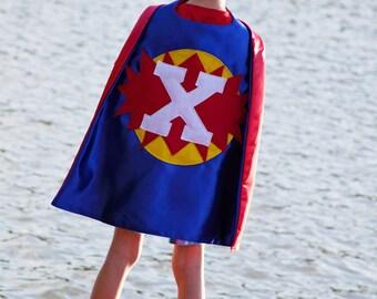 SUPERHERO Cape for Boys - Superhero Photo Session - Blue Red Super Hero Cape - Boy Cape - Superhero Prop - Free Mask