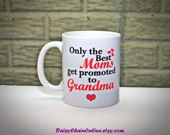 Grandma Gift Grandpa Gift - Only The Best Moms/Dads Get Promoted to Grandma/Grandpa - Pregnancy Announcement  - Grandpa Mug, Grandma Mug