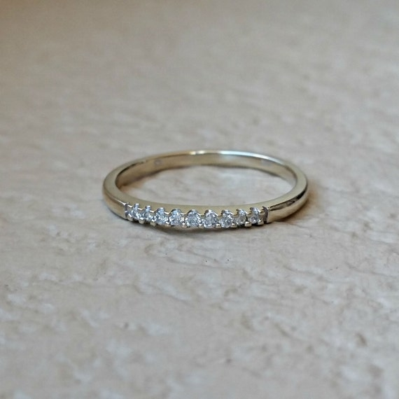 Vintage Thin Diamond Wedding Band Estate By CypressCreekVintage