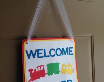 Train Door Decoration - Baseball Door Decoration - Birthday Decorations - Baseball Birthday Decorations - Train Birthday Decorations