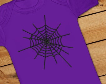 Spider Web Embroidery Design
