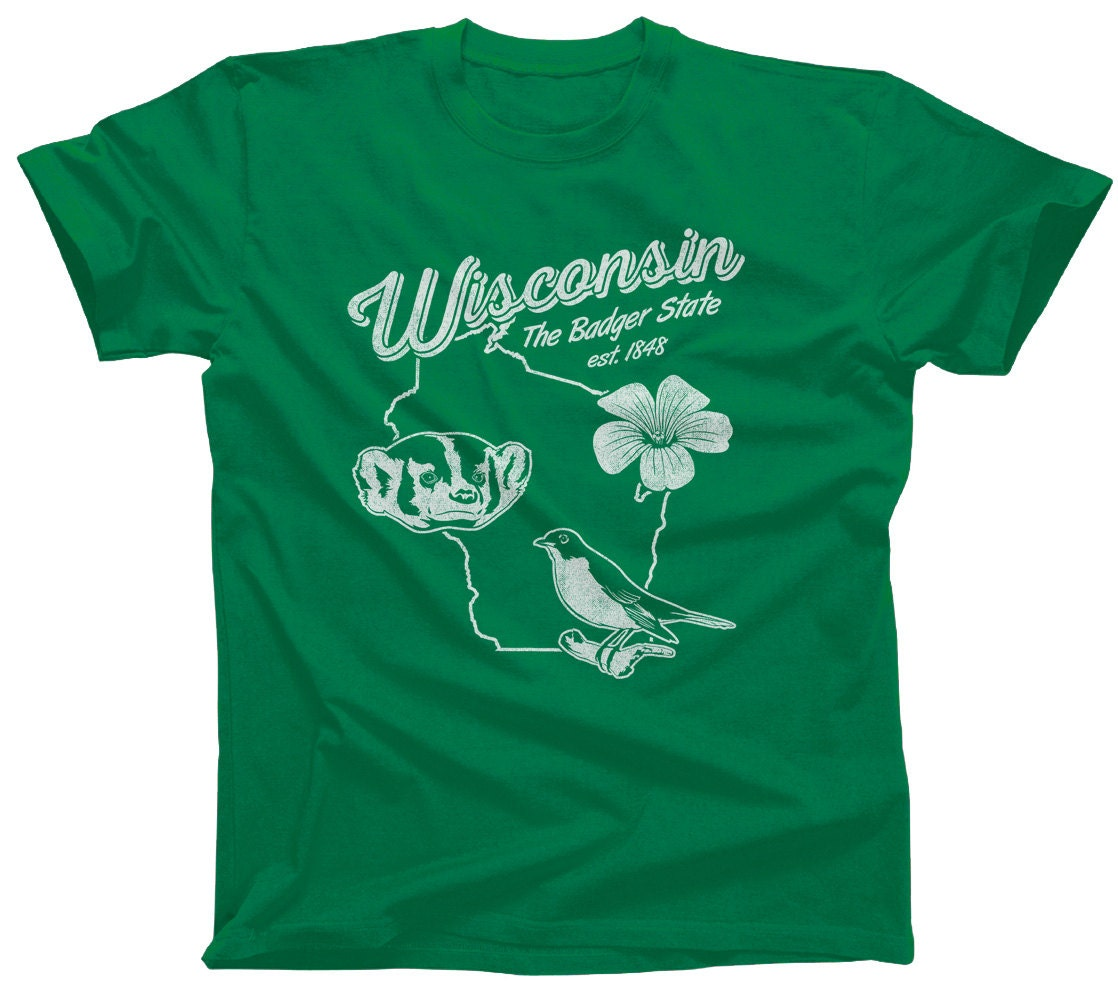 Vintage wisconsin shirt wisconsin tshirt wisconsin tee for T shirt printing madison wi