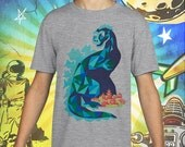 50s Godzilla Monster / Gojira / Polish Poster / Gray Child Size Performance T-Shirt