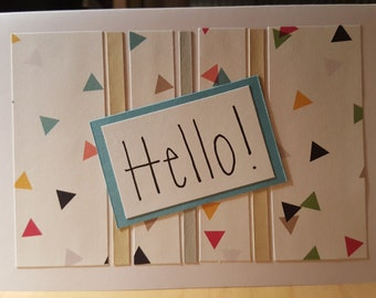Hello! - Blank Message Greeting Card