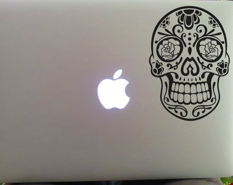 Sugar Skull Decal, Car Decal, Yeti Decal, Sugar Skull, Sugar Skull Sticker, Laptop Decal, Day of the Dead, Vinyl Decal, Laptop Sticker