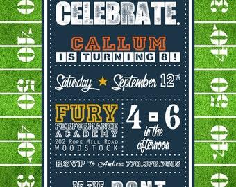 Football Party Invitation (DIGITAL FILE)