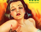 Modern Girl Book Magazine  1939   Magnificent 2nd Issue of this Mag !  Great Cardwell Higgins Cover Art of Stunning Brunette Gal   WoW  Look