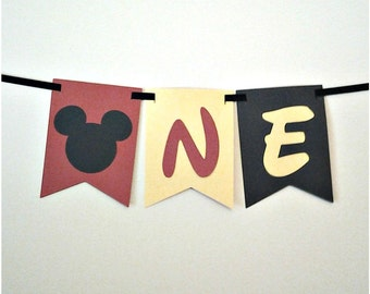 "Mickey Mouse ""One"" Banner"