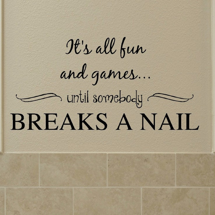 Nail Art Beauty Salon Game: It's All Fun And Games Until Somebody Breaks A Nail Wall