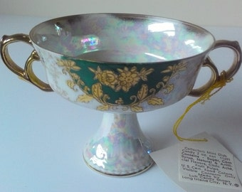 Vintage Royal Sealy Iridescent Lusterware Collectors Mint Compote