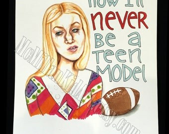 "Marcia ""Teen Model"" Brady Bunch Movie quote art"