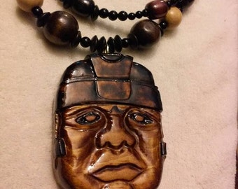 Olmec – Etsy |Olmec Head Necklace
