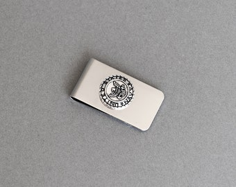 US Navy Money Clip Men's Money United States Navy Money Clip Groomsmen Gifts Stainless Steel Money Clip Wedding Gifts for Him