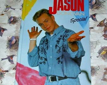 Jason Donovan Special Music Memorabilia Australian Singer Actor Scott Robinson Neighbours Hardback Book Collectable Vintage Ninties Aussie