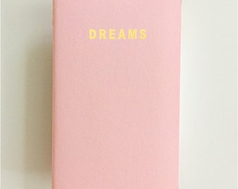 Pink Moleskine Notebook with Gold Foil Print