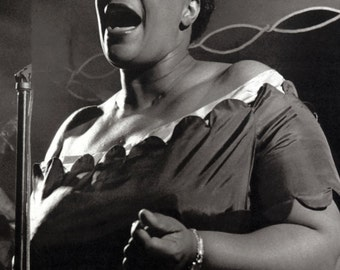 Ella Fitzgerald Poster, Singer, First Lady of Song, Singing, the Queen of Jazz
