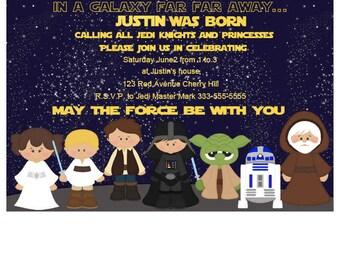 Kylo Ren Invitation Star Wars Invitation Star Wars The Force