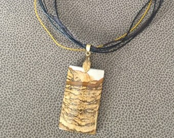 Necklace, Picture Jasper, Jasper Necklace, Gift for Her, OOAK Necklace, Ready to ship, Rock Hound, Neutral Palette, Rock Jewelry, Jasper