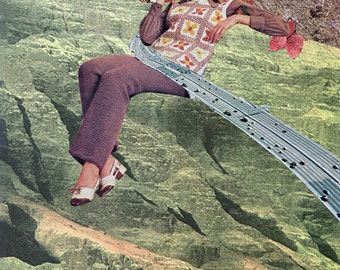 """Collage Print  """"Road to Growth of Self-Alienating Modern People"""""""