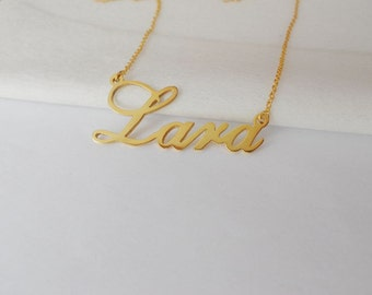 Gold Personalized Name Necklace,Dainty Name Necklace,Custom Name Necklace, Custom Celebrity Necklace, Any Name Pendant