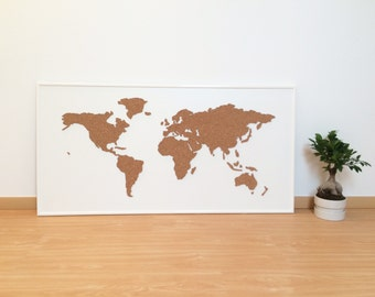 Cork world map etsy gumiabroncs Choice Image