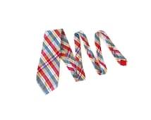 Vintage Brooks Brothers Tie / Madras Plaid / 1970's / Brooksgate / Cotton