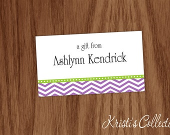 Personalized Calling Cards Stickers, Chevron Person Business Mommy Cards, Custom Gift Inserts Enclosure Cards, Gift Tags, A Gift From Cards