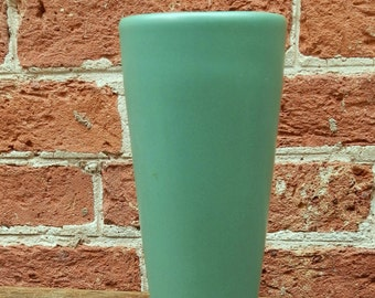 Vintage 1950's Green Minimalist Ceramic Vase