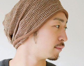 Knit Beanie Hat Made in Japan from Sports Fabric. Fashion Hair Head accessory Japanese Style ls-dtm