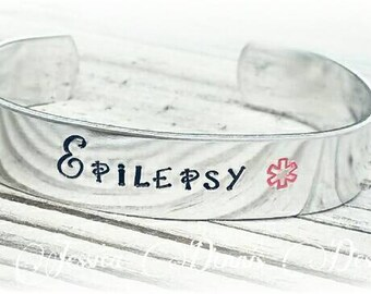 Medical Alert Bracelet - Medical Alert Bangle - Medical ID - Medical Alert Jewelry -Diabetic- Epilepsy - Allergy Bracelet - Cute ID bracelet