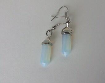 Opalite Earrings/Opalite Point Earrings/Unique Opalite Earrings/Opalite Dagger Earrings/Gemstone Point Earrings/Healing Point Earrings/E0092