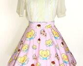 CARDCAPTOR SAKURA Kero Dessert Time Skater Skirt - Made to Order
