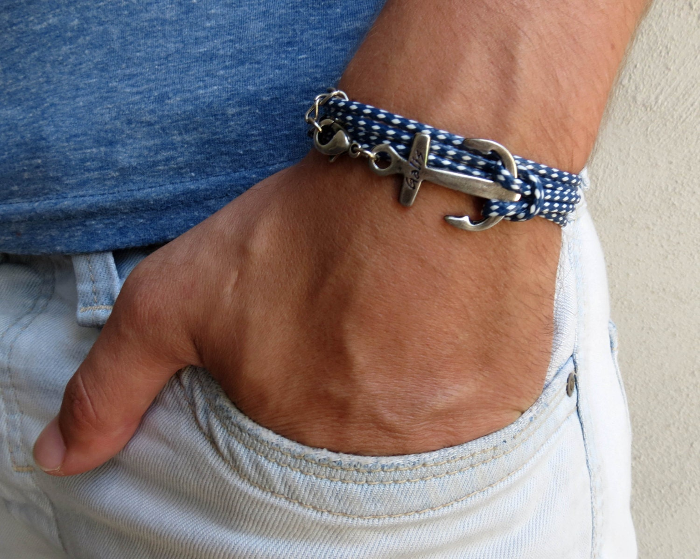 Trendy silver bracelets for men