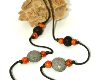 """Volcanic Moon"" necklace"