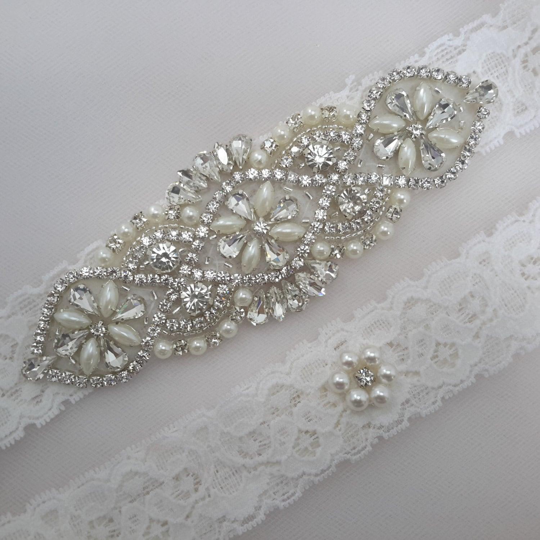 Wedding Garter Pictures: Bridal Garter Wedding Garter Set Garter Set Ivory Garter