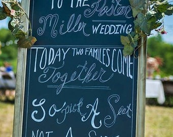personalized welcome chalkboard